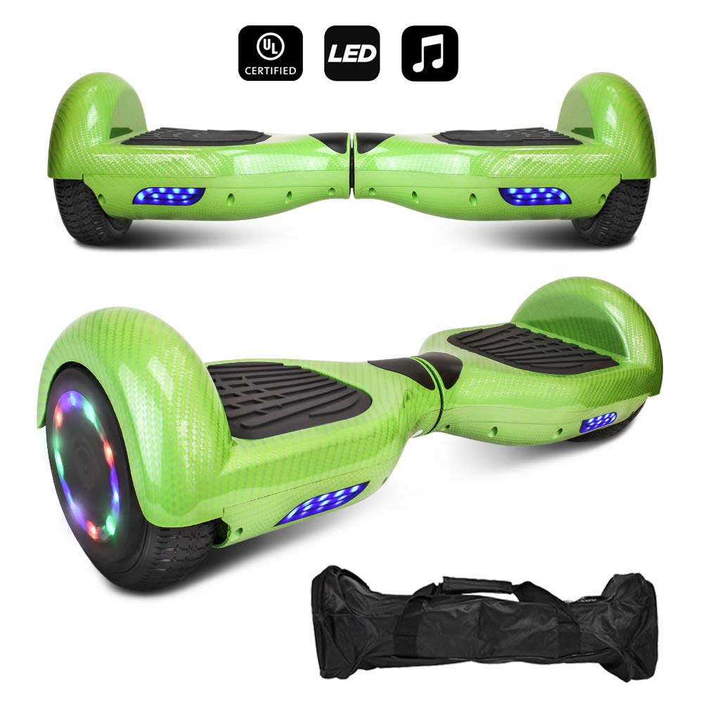 """CHO 6.5"""" inch Wheels Electric Smart Self Balancing Scooter Hoverboard with Speaker LED Light - UL2272 Certified - Cheap Hoverboards under 250$"""