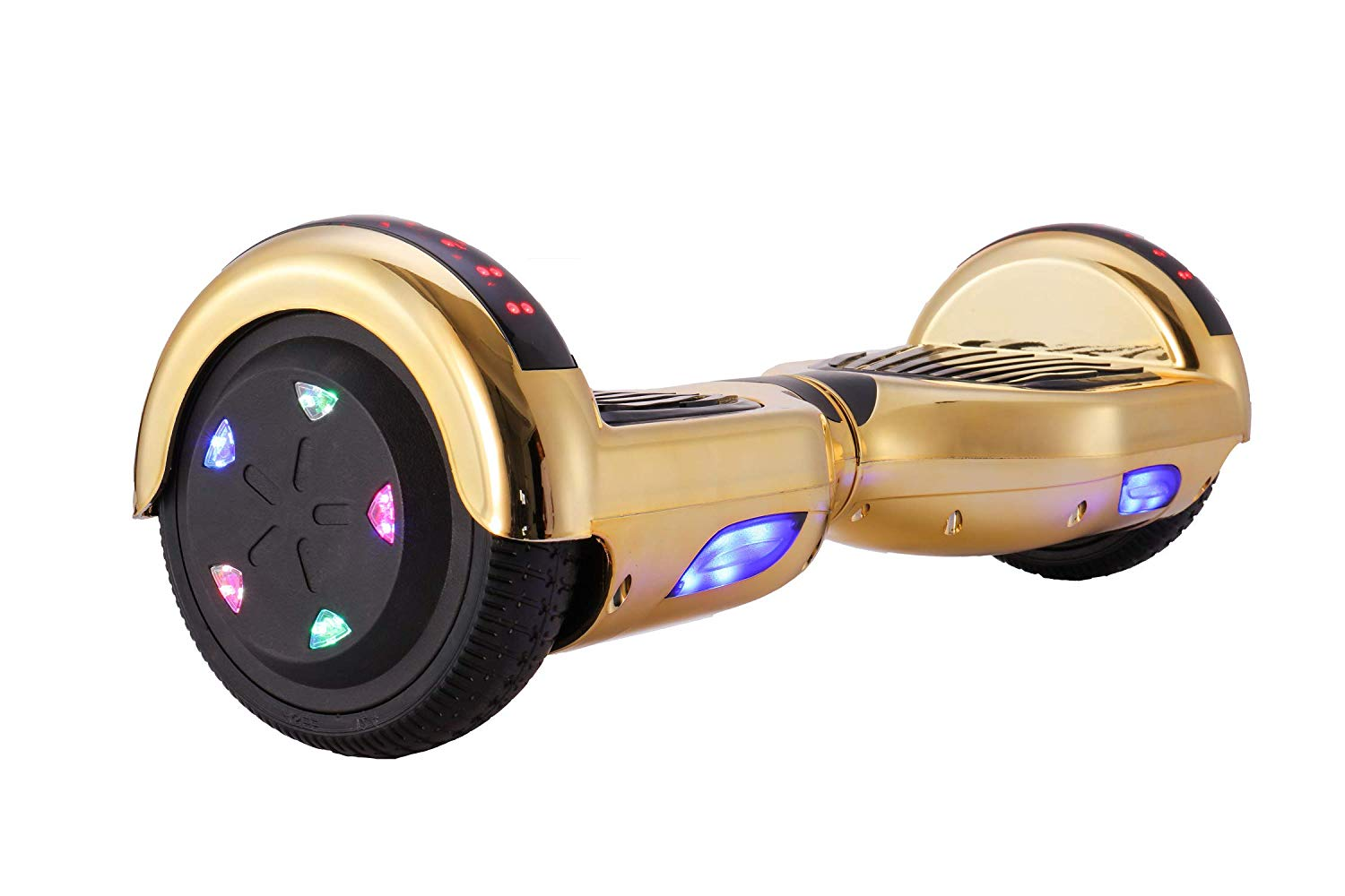 CXM2018 Bluetooth Enabled 6.5 inch Self Balancing Hoverboard with Built-in Wireless Speaker,250Watt Dual Motors and LED Side Lights for Kids and Adults,UL 2272 Certified Electric Scooter - Cheap Hoverboards under 250$