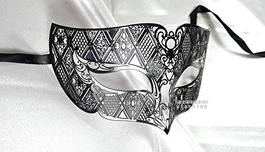 Men Plated Laser Cut Venetian Masquerade Mask