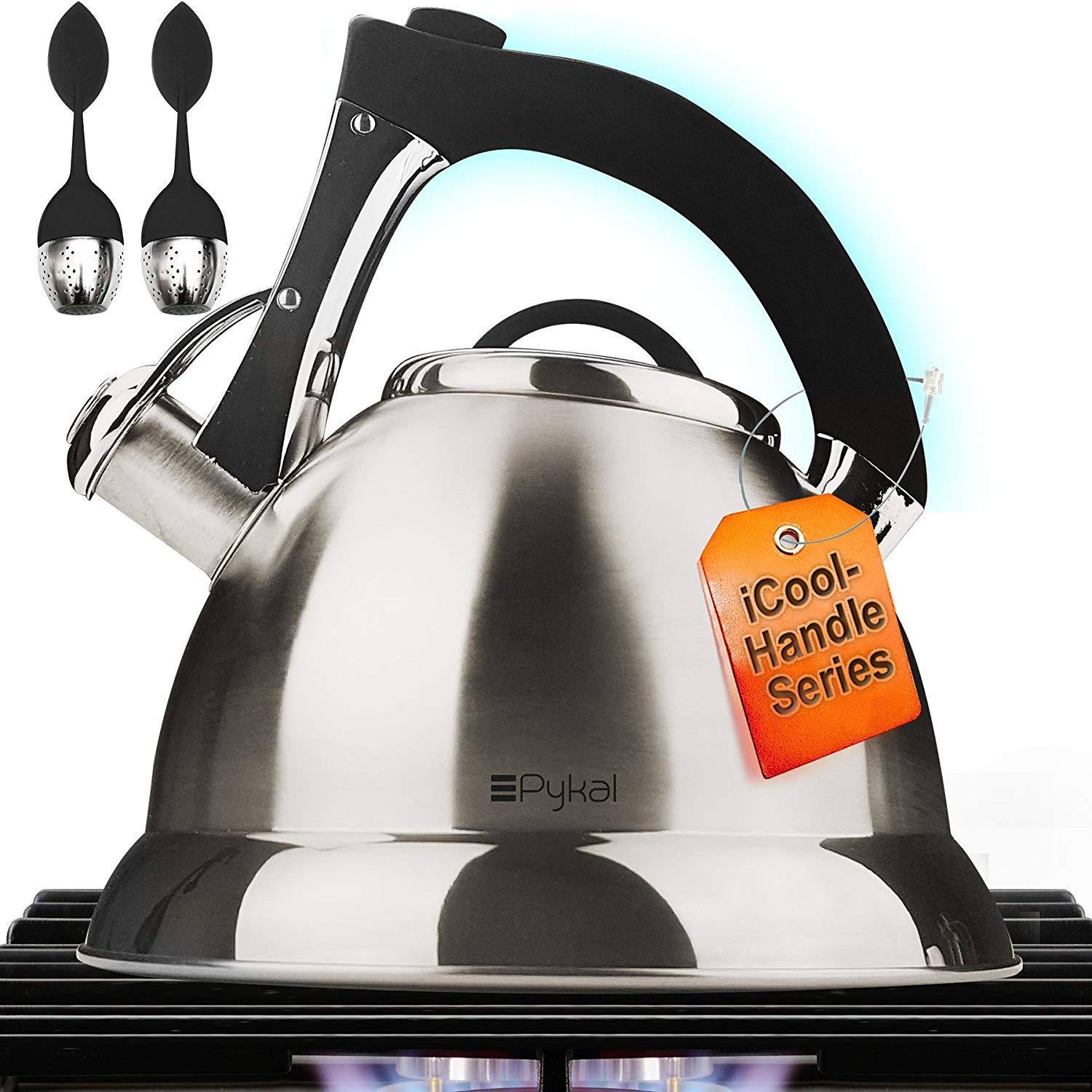 Pykal Whistling Tea Kettle with iCool