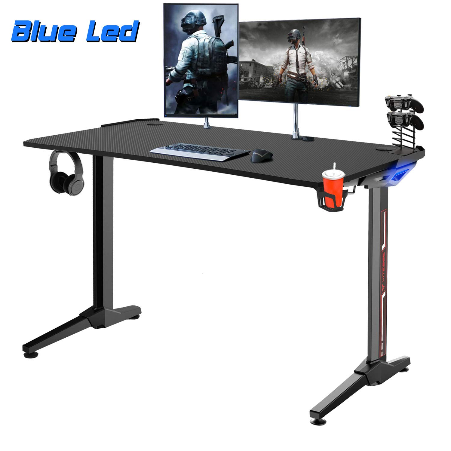 "Vitesse 55"" Super Larger Gaming Desk Racing Style Computer Table"