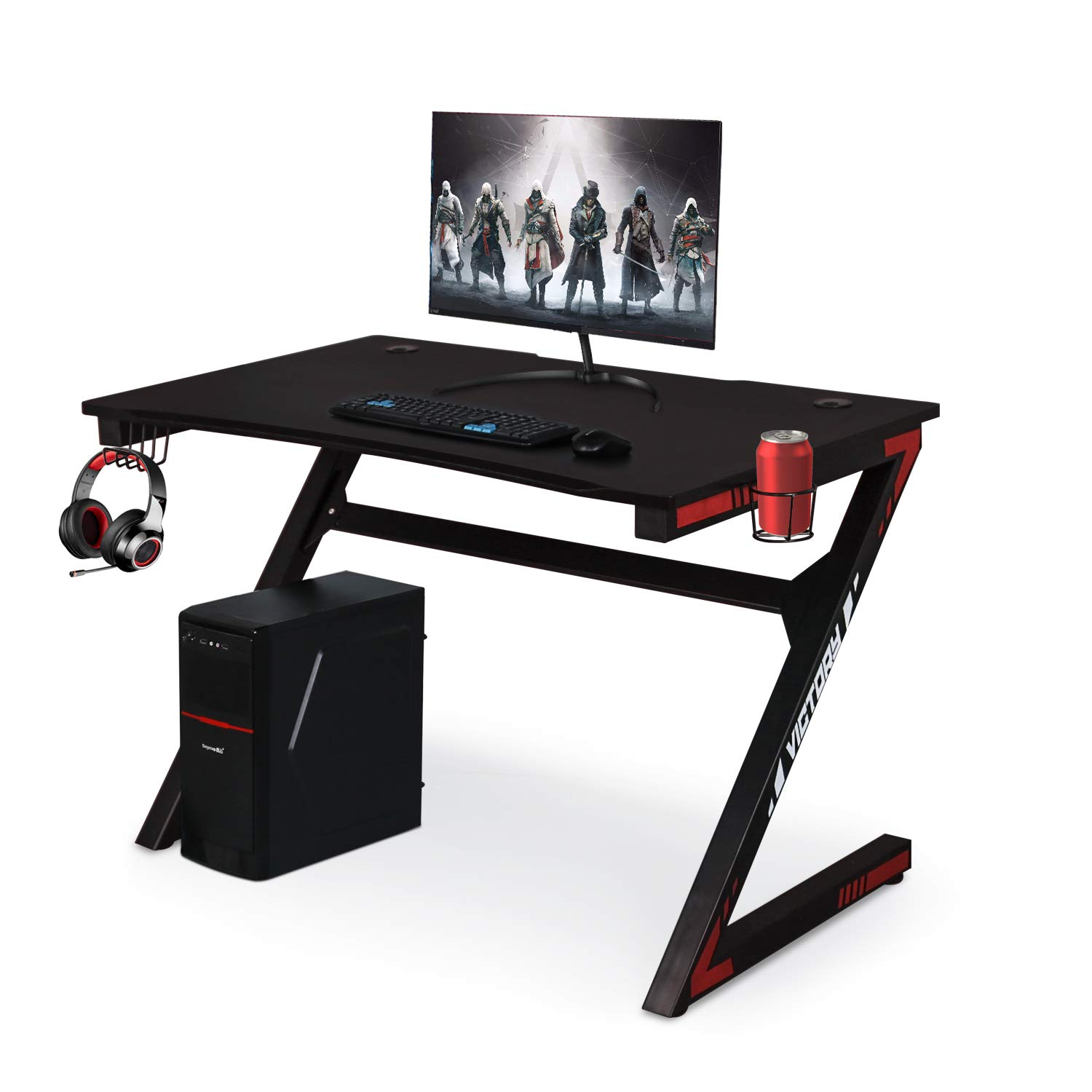 Computer Gaming Desk with Large Carbon