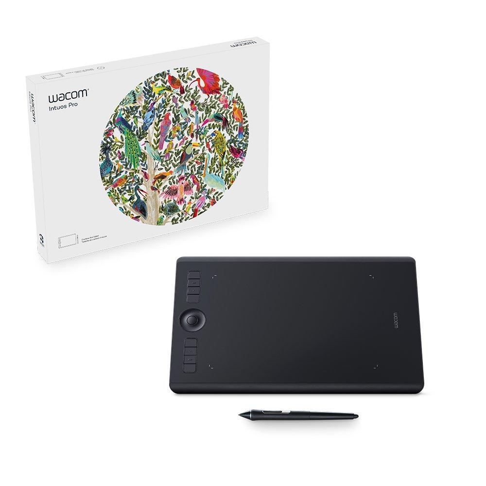 Wacom Intuos Pro Digital Graphic Drawing Tablet for Mac or PC, Medium, (PTH660) New Model