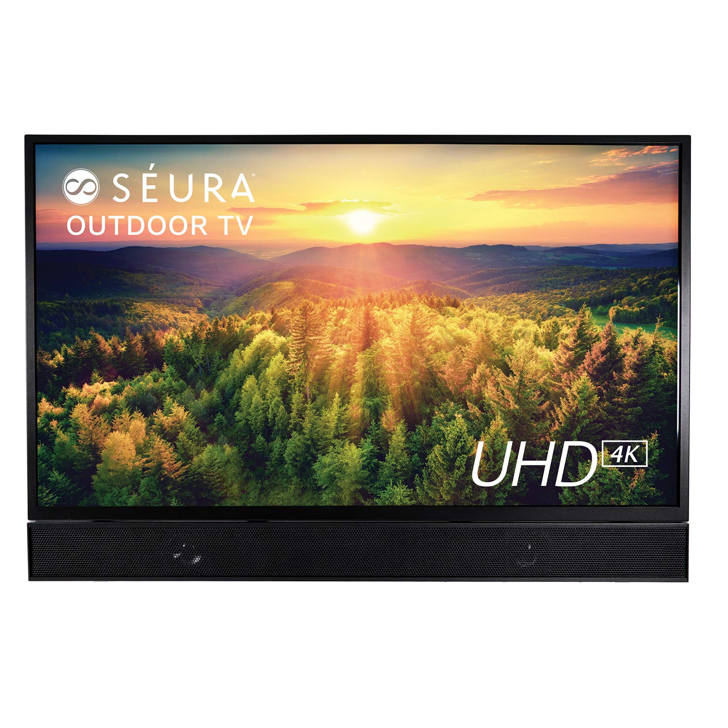 Séura Shade Series 55-Inch Weatherproof 4K Ultra HD Outdoor TV with Soundbar (2019)