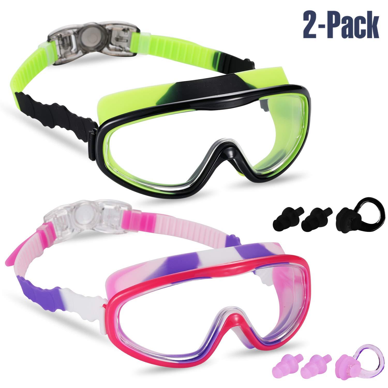 Yizerel 2 Kids Swim Goggles