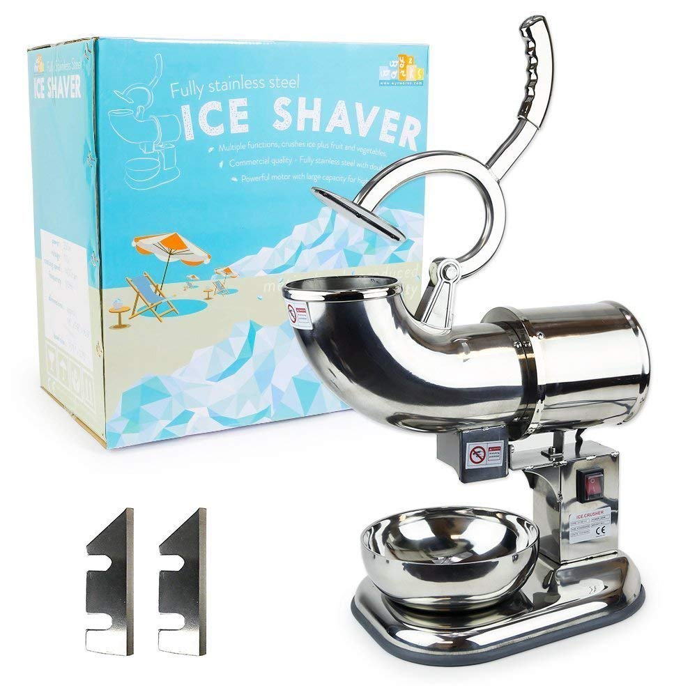 WYZworks Stainless Steel Commercial Heavy Duty Ice Shaver