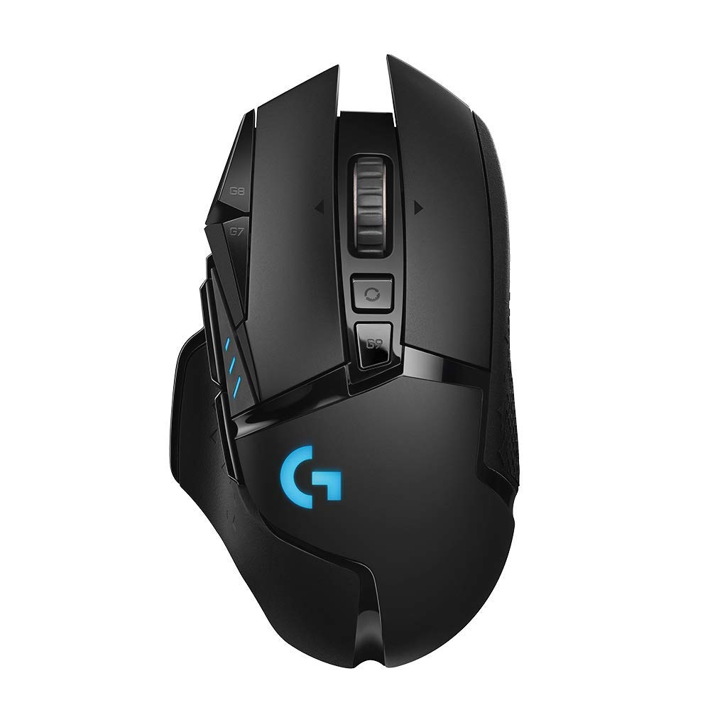 Gaming Mouse: Logitech G502 Lightspeed Wireless Gaming Mouse with Hero 16K Sensor, PowerPlay Compatible, Tunable Weights, and Lightsync RGB