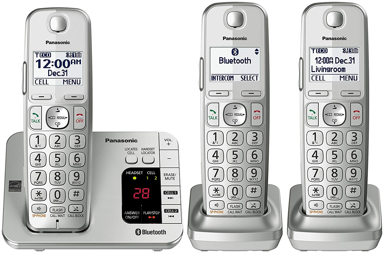 PANASONIC Link2Cell Bluetooth Phone KX-TGE463S - 3 Handsets