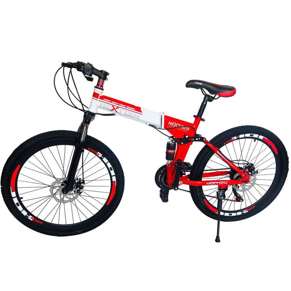 "NextGen 26"" 21 Speed Shimano Foldable Full Suspension Downhill Mountain Bike"