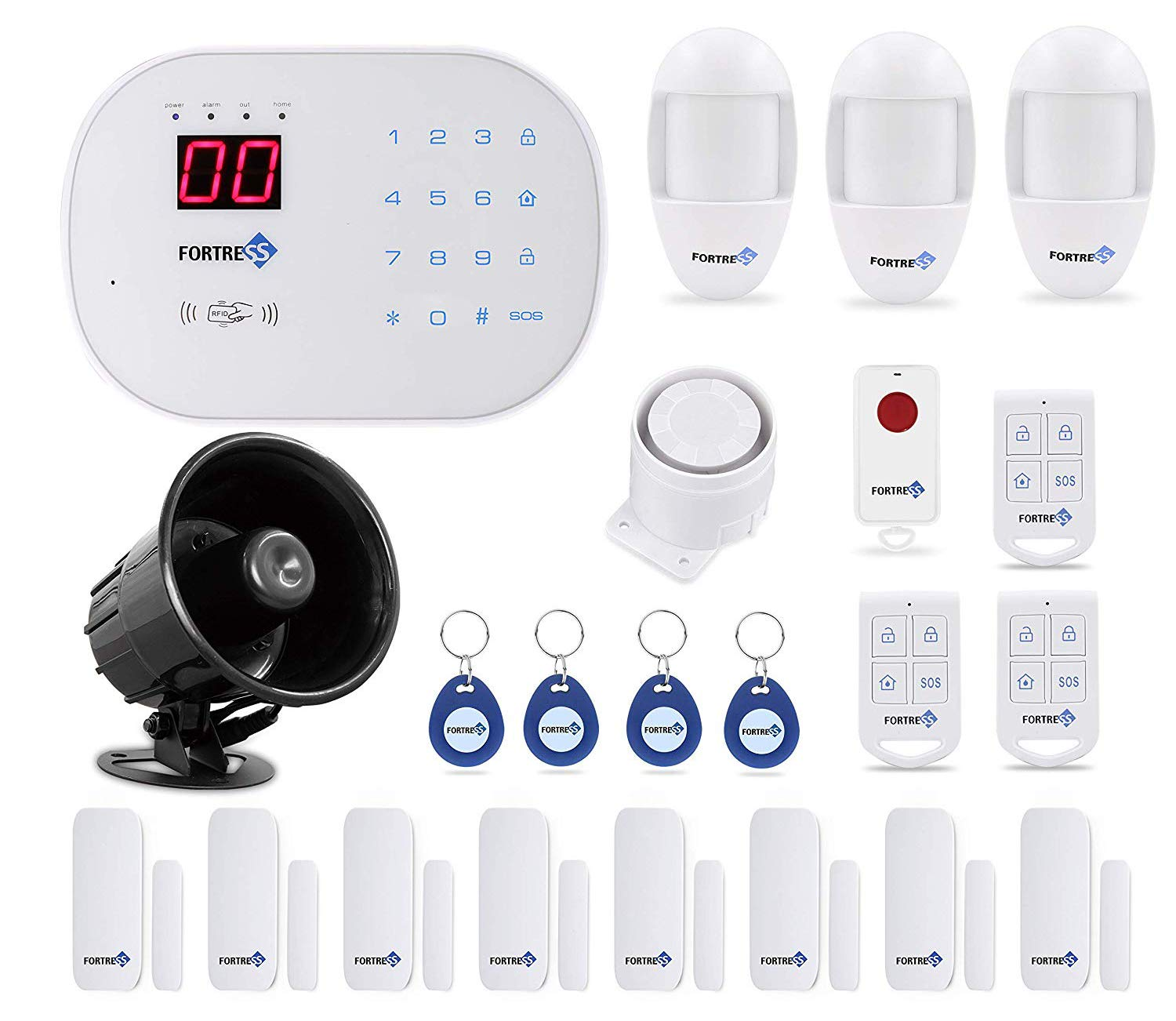 Compatible with Alexa App Controlled Updated S03 WiFi and Landline Security Alarm System Deluxe Kit Wireless DIY Home Security System by Fortress Security Store- Easy to Install