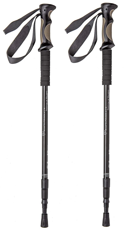 BAFX Products - 2 Pack - Adjustable Anti Shock Hiking/Walking/Trekking Poles - 1 Pair