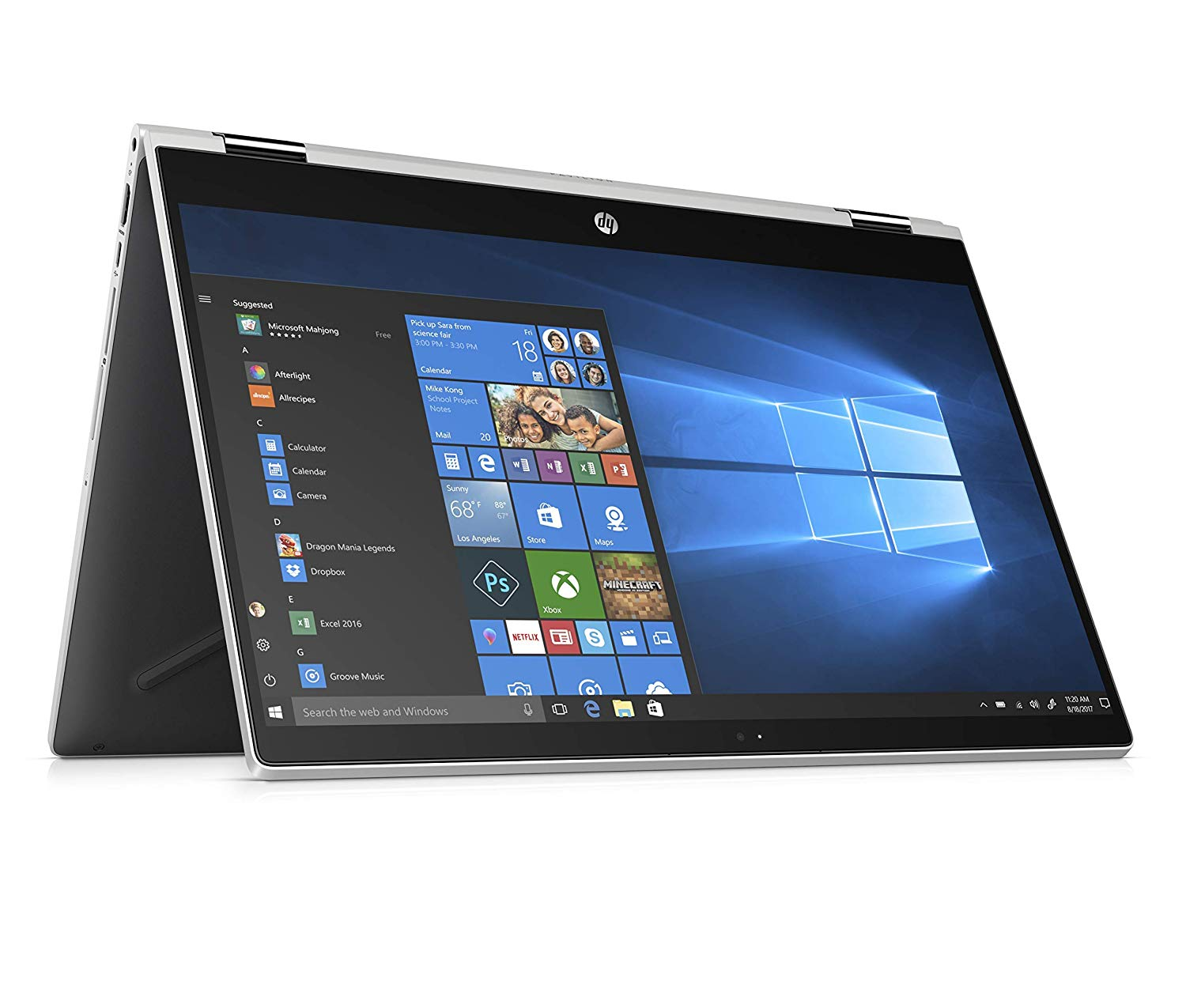"HP Pavilion X360 15.6"" Full HD Convertible Touchscreen 2-in-1 Laptop Core i3-8130U Up to 3.4GHz 20GB (4GB DDR4+16GB Optane) Memory 1TB HDD HP Digital Pen Windows 10"