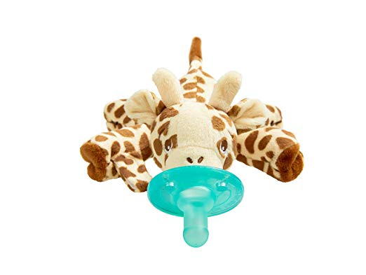 Philips Avent Soothie Snuggle Pacifier, 0m+, Giraffe, SCF347/01 - Pacifier for Breastfed Babies