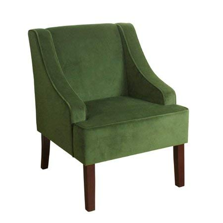 Classic Velvet Swoop Arm Accent Chair (Green)