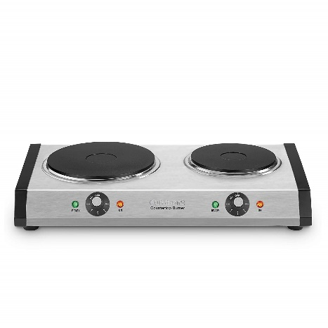 Gas Stove: Cuisinart CB-60 Burner, Stainless Steel