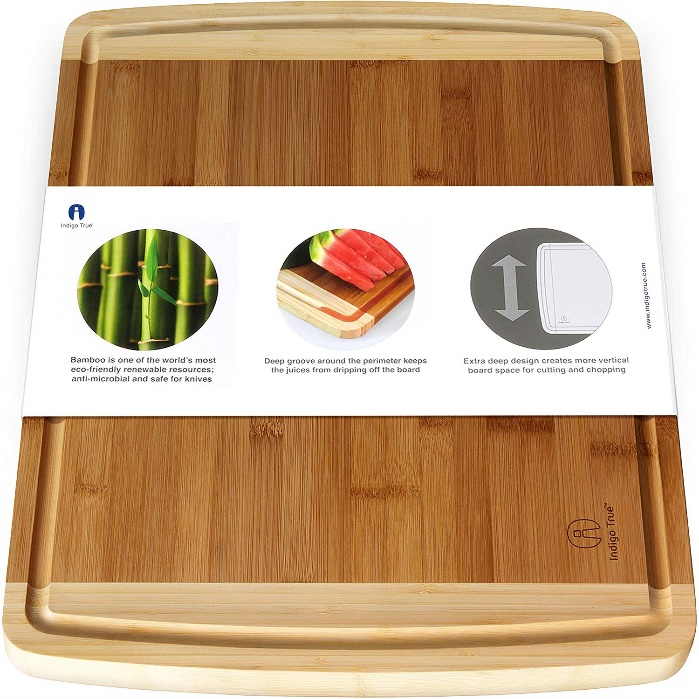 Cutting Board: Large Bamboo Cutting Board for Kitchen