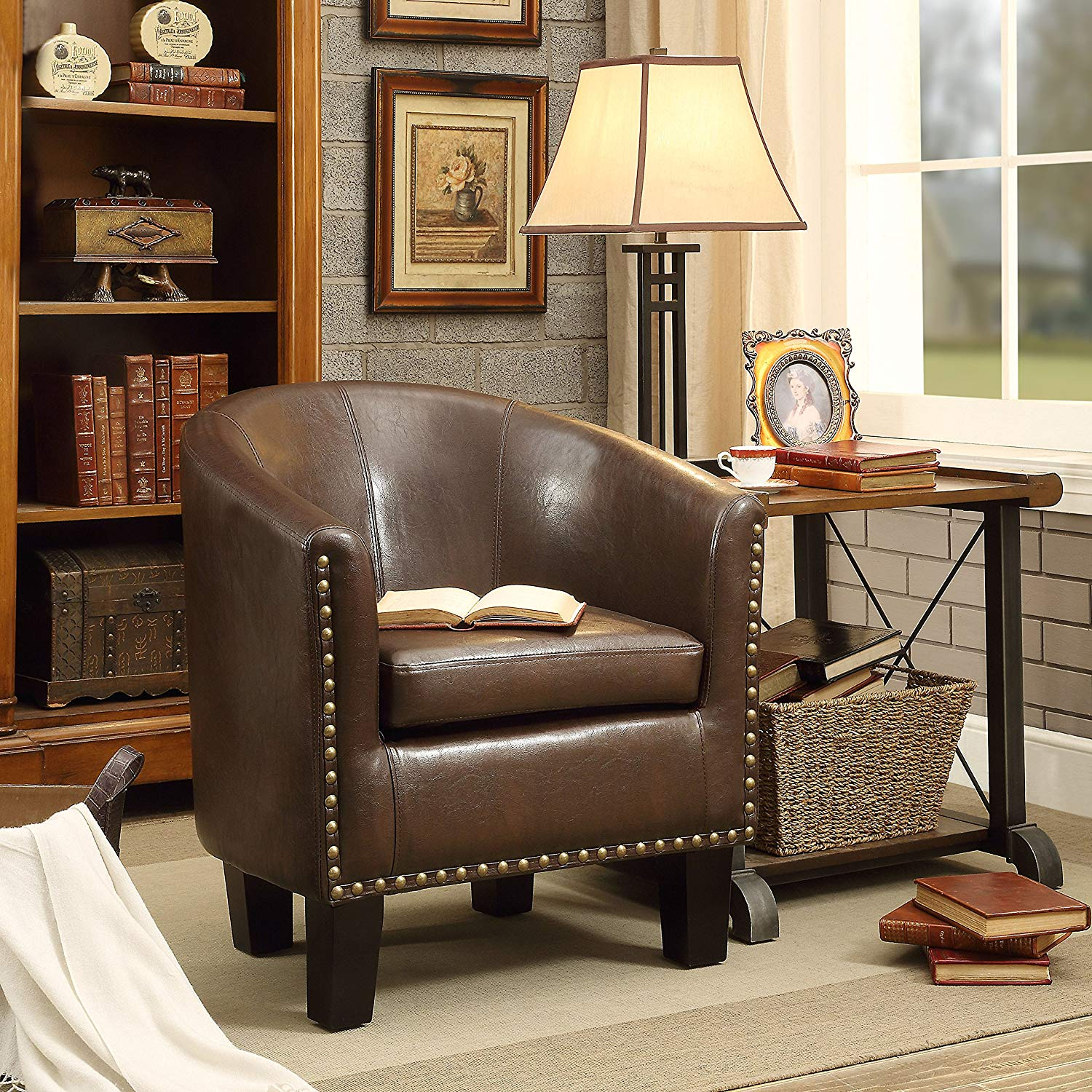Rosevera C2BN Duilio Club Chair, Brown
