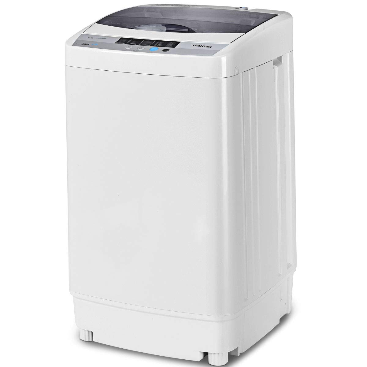 Giantex Full-Automatic Washing Machine Portable Compact 1.6 Cu.ft Laundry Washer Spin with Drain Pump, 10 programs 8 Water Level Selections with LED Display 10 Lbs Capacity