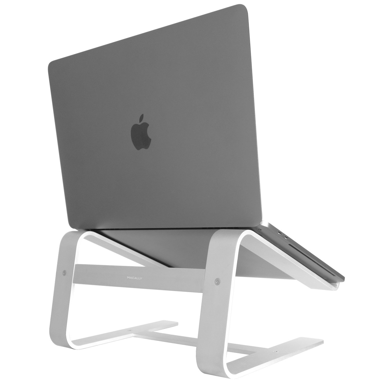 "Macally Aluminum Laptop Stand for Desk & All Apple Macbook 12"" / Pro / Air, Chromebook, Samsung, Acer, HP, Dell, & any Notebook between 10"" to 17.3"" (ASTAND)"