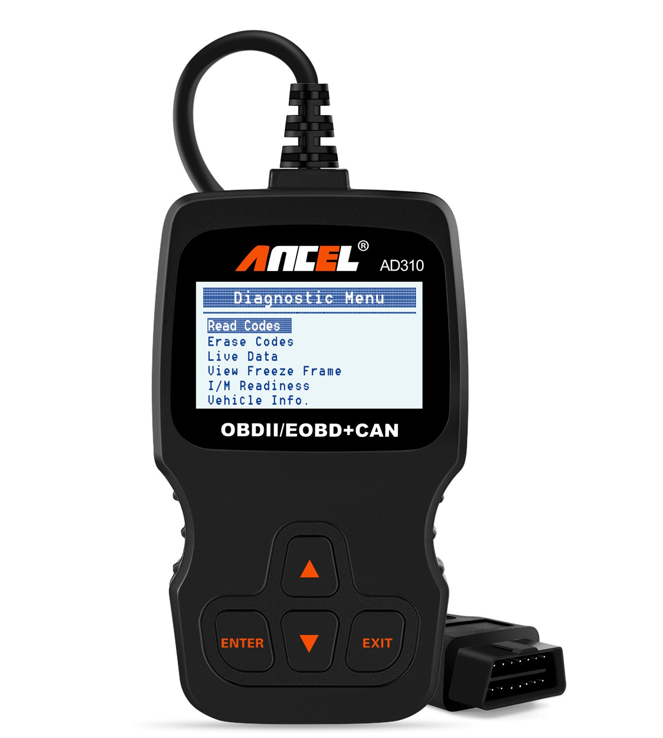 ANCEL AD310 Classic Enhanced Universal OBD II Scanner Car Engine Fault Code Reader CAN Diagnostic Scan Tool-Black