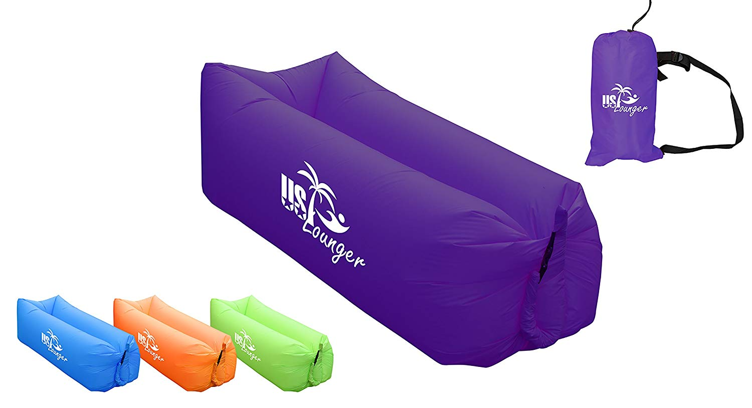 US Lounger Fast Inflatable Portable Outdoor or Indoor Wind Bed Lounger