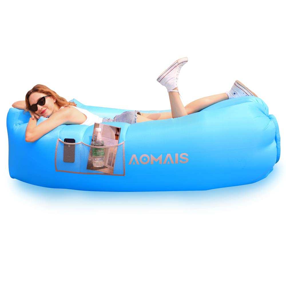 Inflatable Lounger Air Sofa Portable Waterproof Anti-Air Leaking