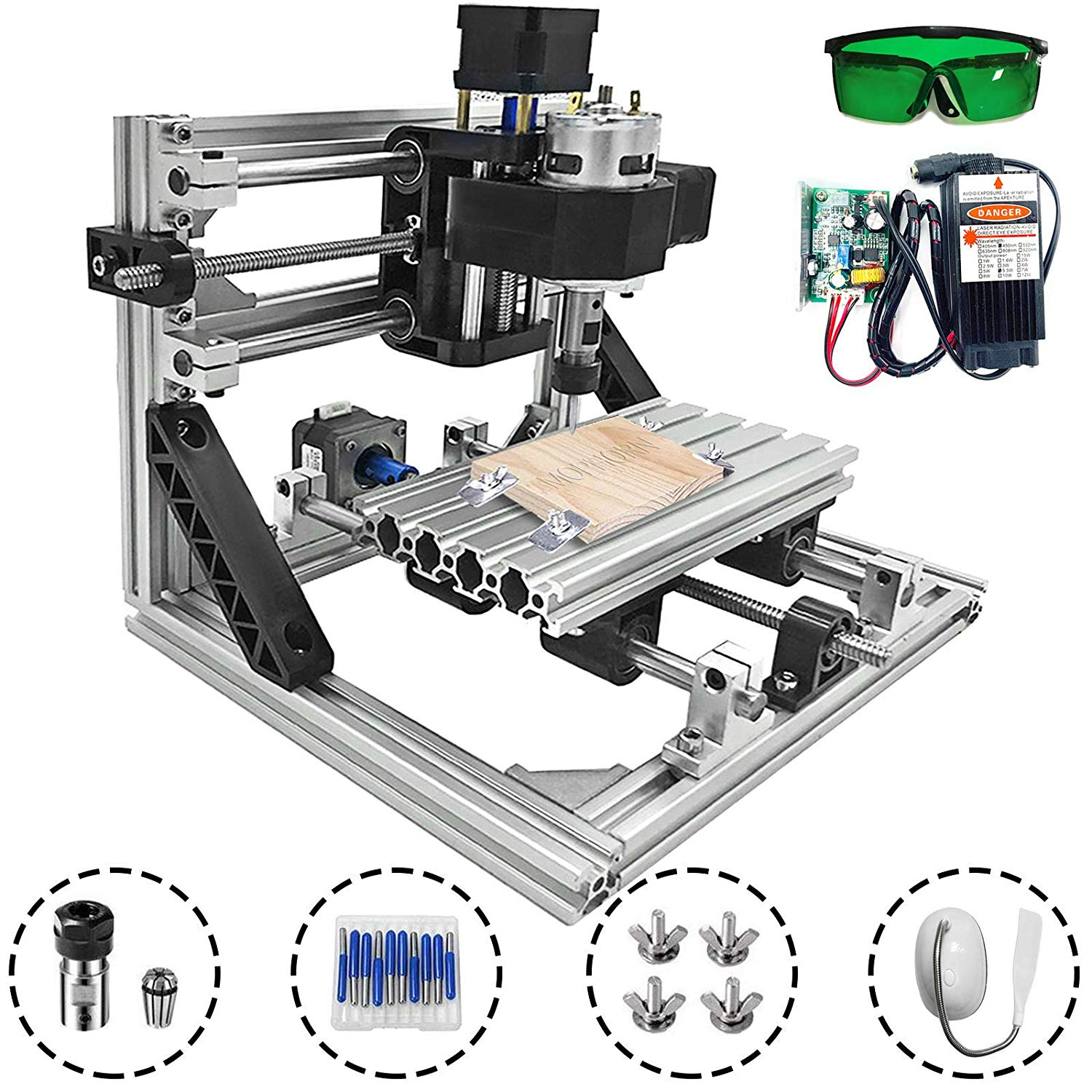 Mophorn Cnc Machine 1610 Grbl Control Cnc Router Kit 3