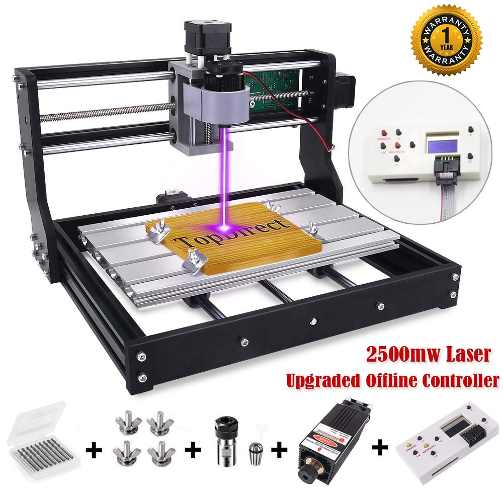 [Upgraded Version] 2500mw Laser Engraver CNC 3018 Pro Engraving Machine