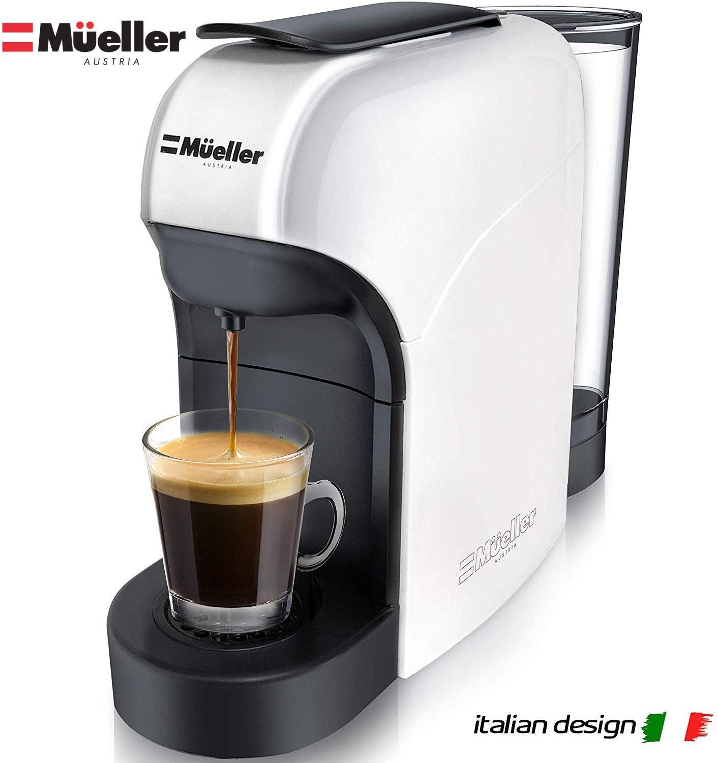 Mueller Espresso Machine for Nespresso Compatible Capsule, Premium Italian 20 Bar High Pressure Pump, 25s Fast Heating with Energy Saving System,...
