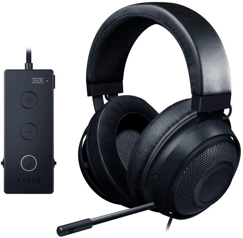Razer Kraken Tournament Edition THX 7.1 Surround Sound Gaming Headset: Aluminum Frame - Retractable Noise Cancelling Mic - USB DAC Included - For PC, Xbox,...
