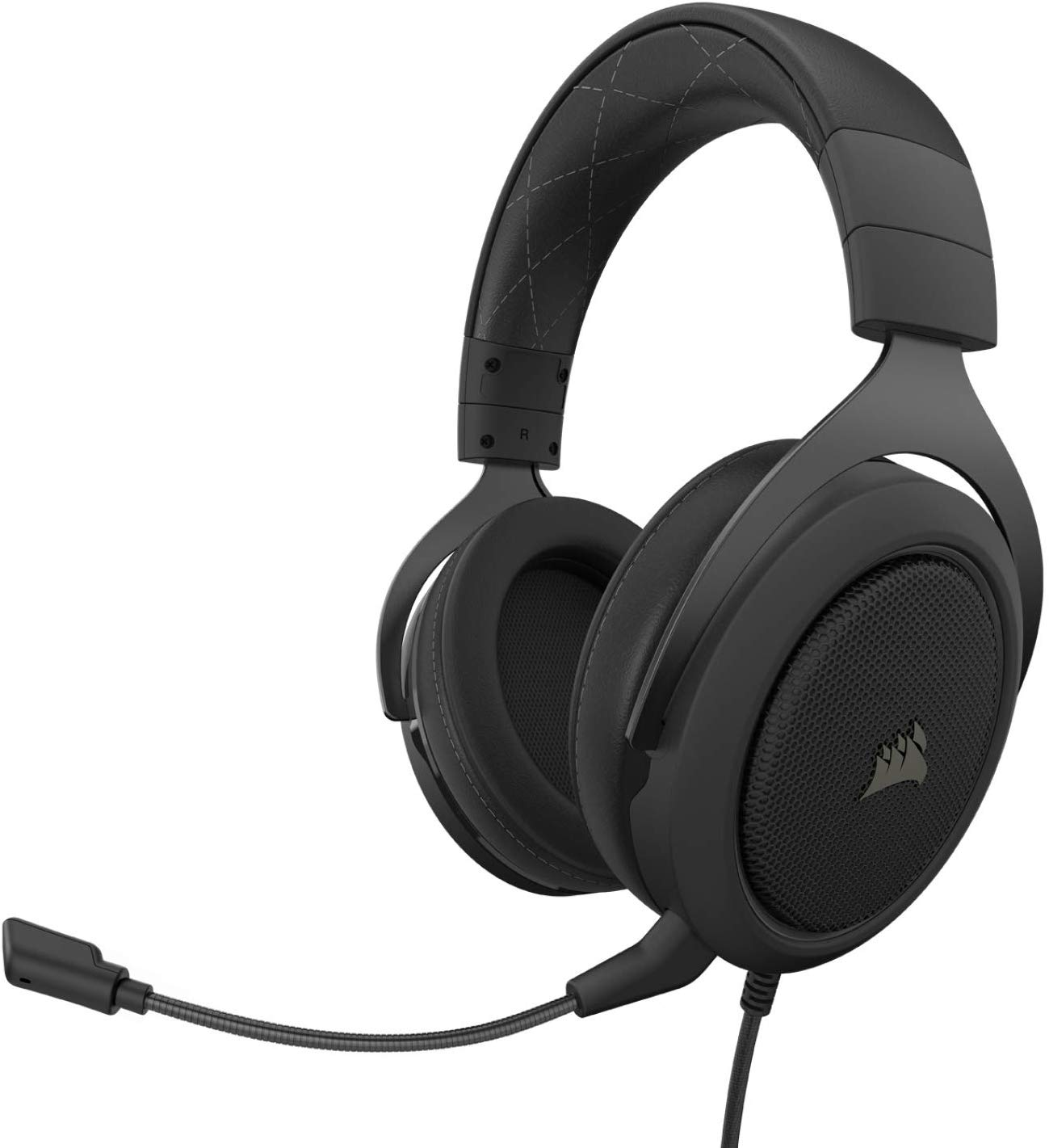 Corsair HS60 – 7.1 Virtual Surround Sound PC Gaming Headset w/USB DAC - Discord Certified Headphones – Compatible with Xbox One, PS4, and...
