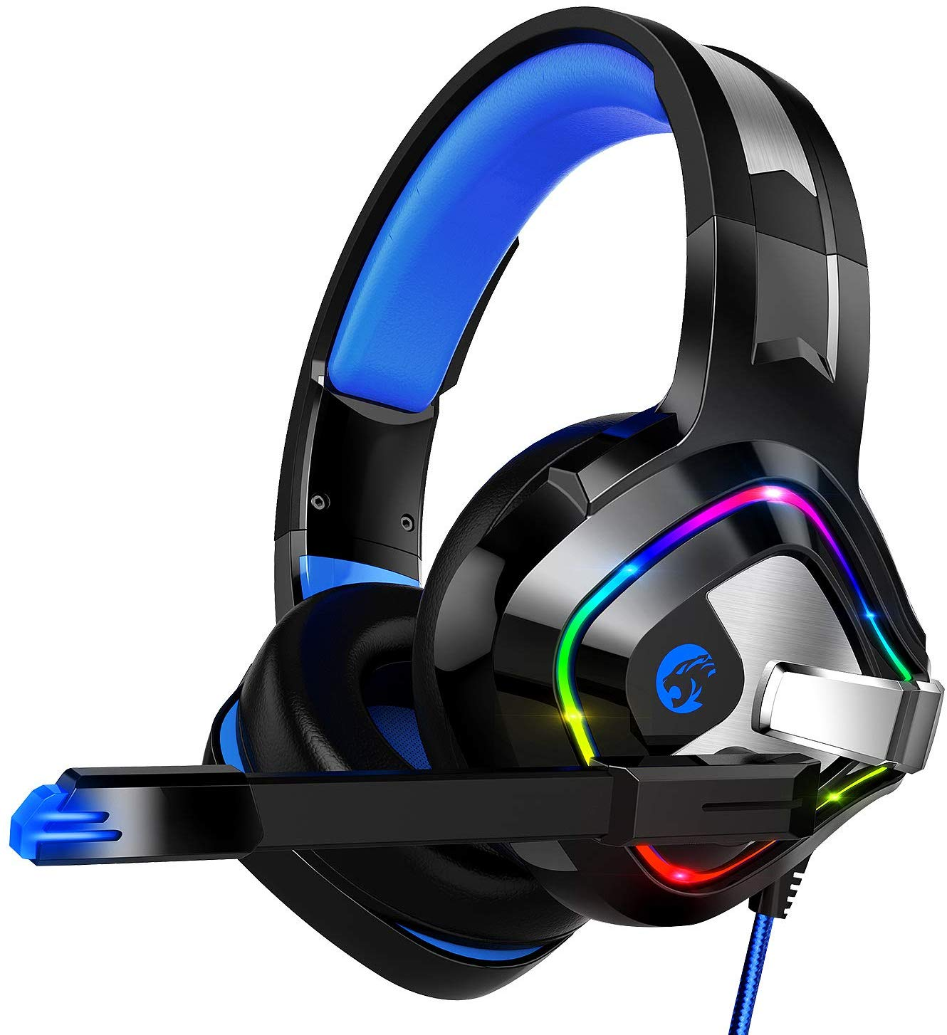 ZIUMIER Gaming Headset PS4 Headset, Xbox One Headset with Noise Canceling Mic and Rgb Light, PC Headset with Stereo Surround Sound, Over-Ear Headphones for...