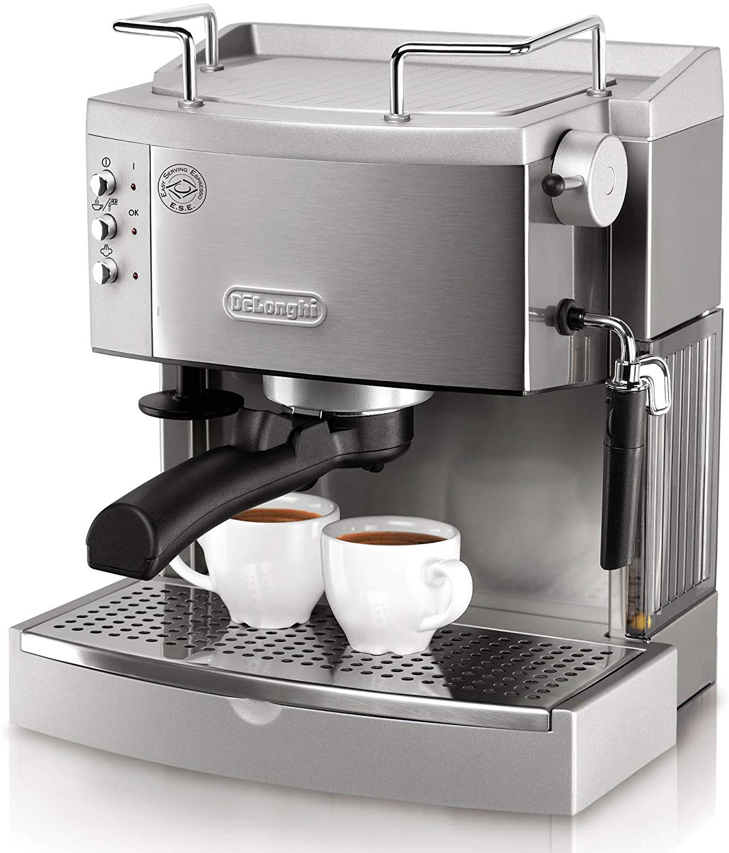 DeLonghi EC702 15-Bar-Pump Espresso Maker, Stainless, Metal