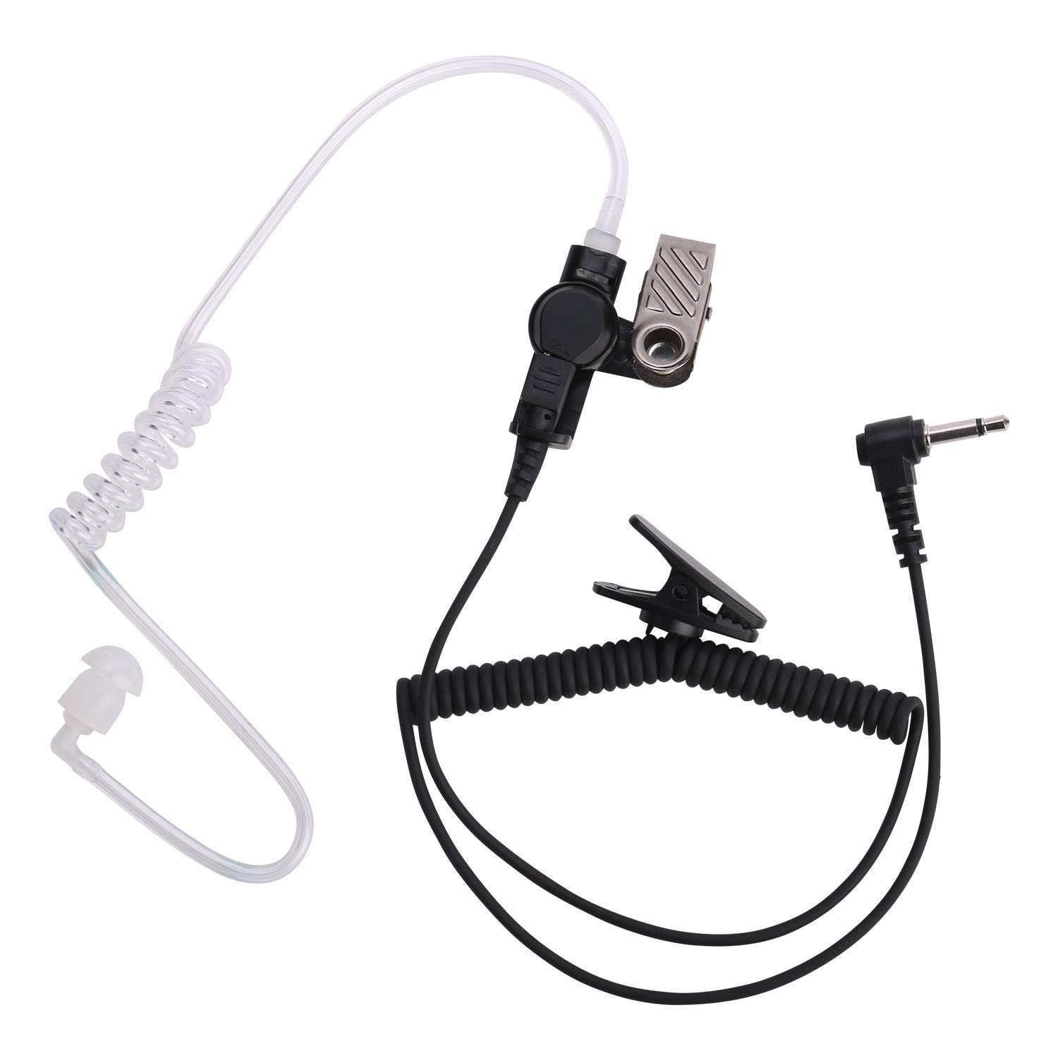 COISOUND Two Way Radio Earpiece Noise Canceling Transparent Security Headset Walkie Talkie Headphone 3.5mm pin Receiver/Listen ONLY for Any Motorola Kenwood ICOM Single Pin Radio