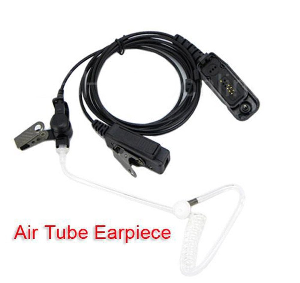 Acoustic Tube Earpiece Headset Mic for Motorola XPR6500 XPR6550 XPR6580 APX7000 APX6000 Radio Security Door Supervisor