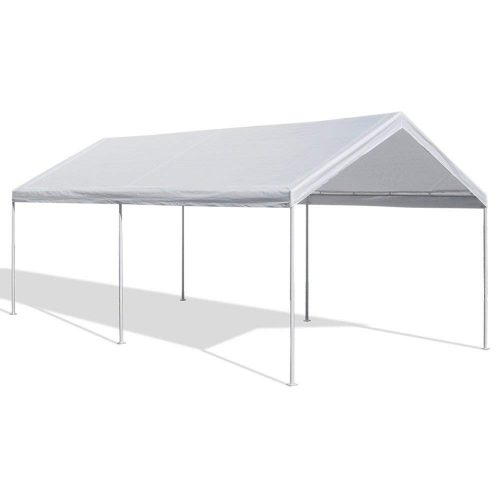 Caravan Canopy 10 X 20-Feet Domain Carport, White - Car Shelters and Canopy