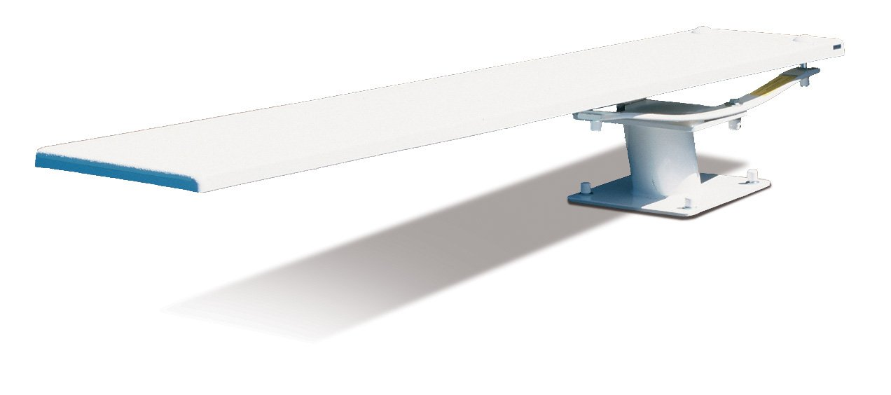 S.R. Smith 68-209-5962 606/608 Cantilever Jump Stand with 6-Feet Frontier III Diving Board, White