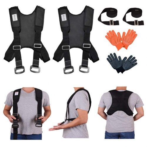 Furniture Moving Strap, Shoulder Lifting Straps for Furniture, Mattress, Sofa, Piano, Refrigerator, Appliance Carrying Strap Heavy Weights 2 Person