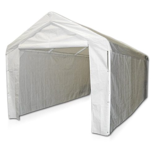 Caravan Canopy 12000211010 Side Wall Kit for Domain Carport, White (Top and Frame Not Included) - Car Shelters and Canopy