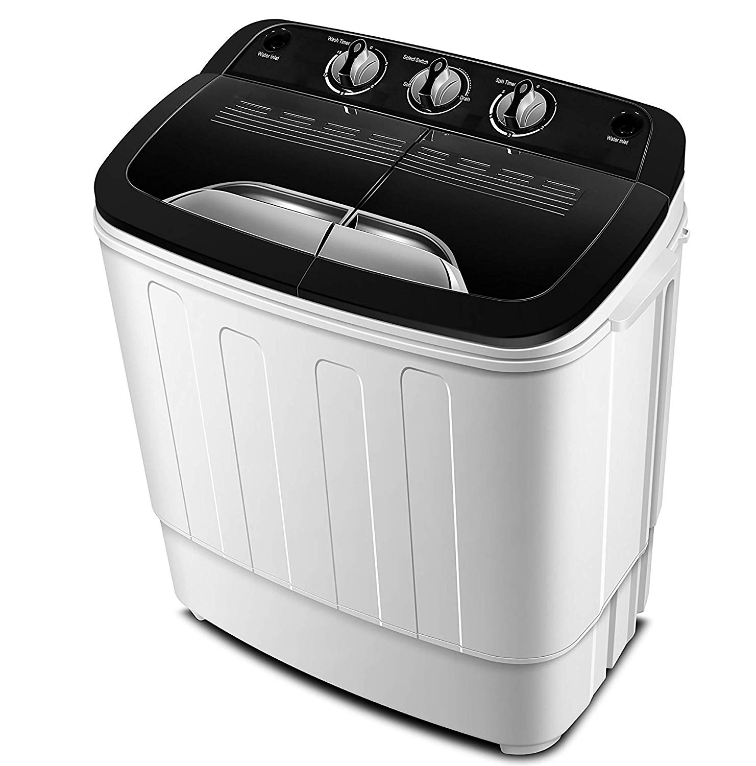 Portable Washing Machine TG23 - Twin Tub Washer Machine with Wash and Spin Cycle Compartments by ThinkGizmos (Trademark Protected)