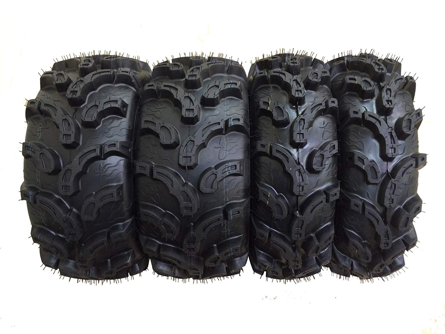 Set of 4 New Premium WANDA ATV/UTV Tires 27x9-12 Front & 27x12-12 Rear /6P Super Lug Mud