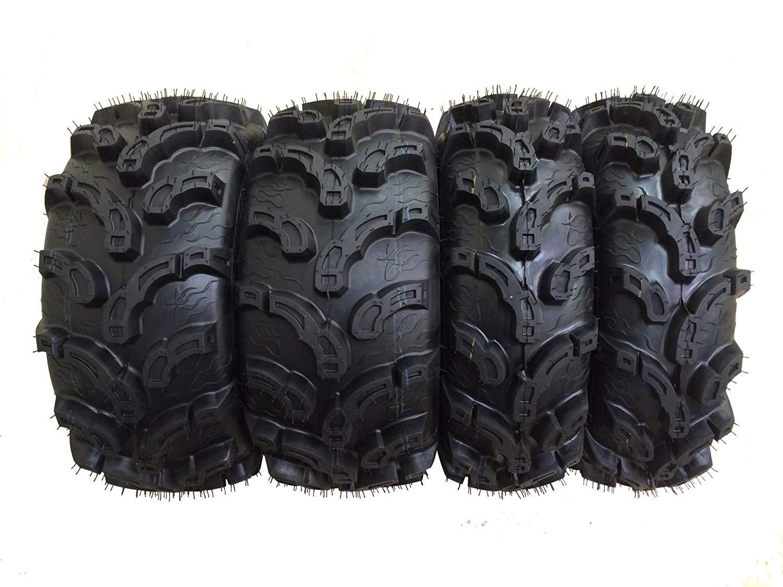 Set of 4 New Premium WANDA ATV/UTV Tires 27x9-12 Front & 27x12-12 Rear /6P Super Lug Mud