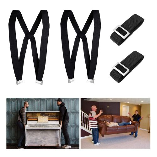 Kingmax Moving Straps, 2-Person Lifting, and Moving System - Easily Move, Lift, Carry Furniture, Appliances, Mattresses, Heavy Object Without Back Pain. Great Tool for Moving Supplies (Black)