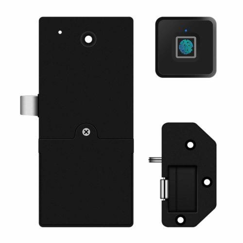 Fingerprint Lock Electronic Cabinet Locks Biometric Digital Keyless Box Furniture Drawer Smart Fingerprint Locks,Suitable for Home &Office (Black)