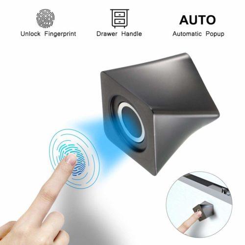 TEEKAR Fingerprint Lock Cabinet Hardware Knob Lock Child Safety Smart Keyless Drawer Lock Security Biometric Fingerprint Door Lock for Home Bedroom Office