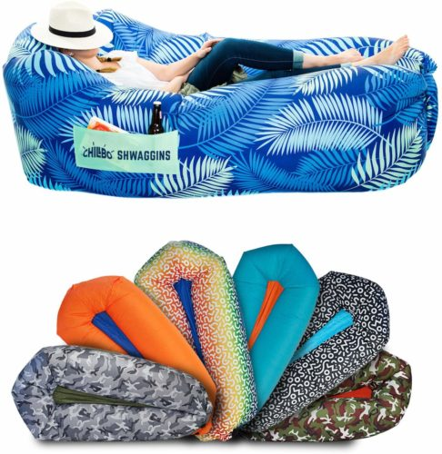 Chillbo Shwaggins Inflatable Couch – Cool Inflatable Chair. Upgrade Your Camping Accessories. Easy Setup is Perfect for Hiking Gear, Beach Chair and Music Festivals.