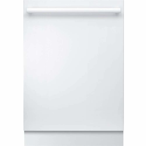 Bosch SHX878WD2N 24 Inch Built In Fully Integrated Dishwasher with 6 Wash Cycles, 16 Place Settings, Water Softener, Soil Sensor, Energy Star Certified, Flexible 3rd Rack, RackMatic in White