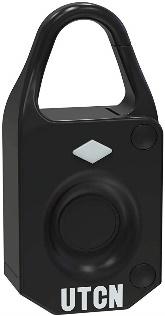 UTCN Mini Fingerprint Padlock, Biometric Lock, no Need Keys, no Need Password, Used for Cabinet, Luggage