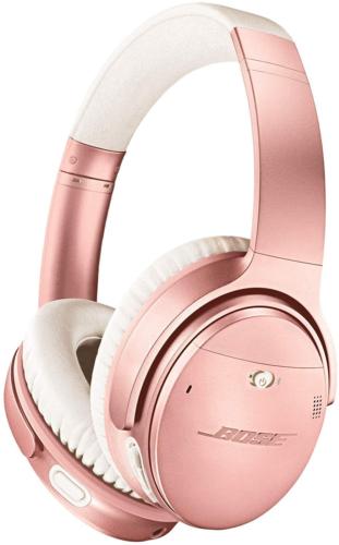Bose QuietComfort 35 (Series II) Wireless Headphones, Noise Cancelling, Alexa Voice Control - Rose Gold I Worldwide Version