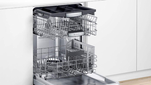 """Bosch SHXM78Z55N 24"""" 800 Series Fully Integrated Dishwasher with 16 Place Settings, Flexible 3rd Rack, InfoLight and CrystalDry (Stainless Steel)"""